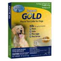 Gold flea and tick collar