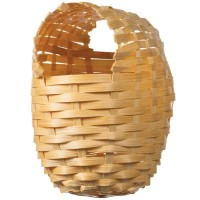Large Finch Bamboo covered nest 4 1/2'' D x 6'' H