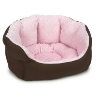 Slumber pet dimple plush nesting bed 26 inch pink