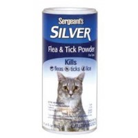 Silver flea and tick powder for cats