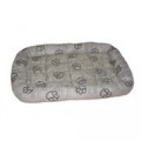SP emb paw print crate bed med charcoal
