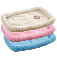 Sherpa crate bed 23.75x16.75 inch sky blue