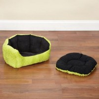 SP Dimple plush nesting bed 18 inch black/green